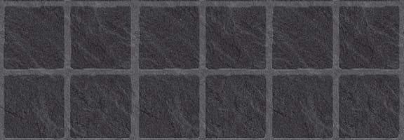embossed black slate large matte tile effect wall panels