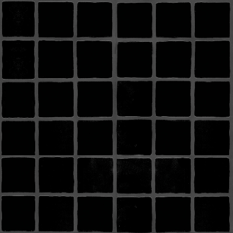 Black Large Matt Tile Effect Wall Panel by Multipanel