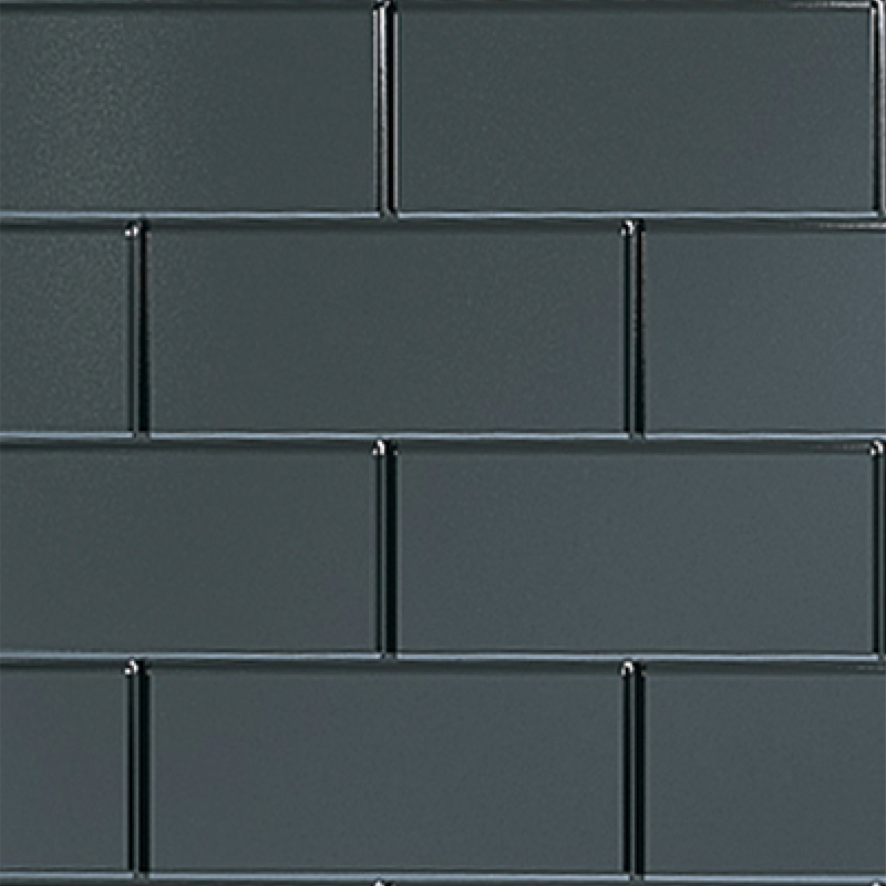 Black Brick Tile Effect Wall Panel by Multipanel