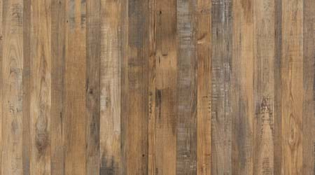 Salvaged Planked Elm wood effect bathroom wall panel from the Linda Barker Collection